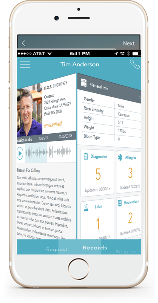 CallMyDoc App Display